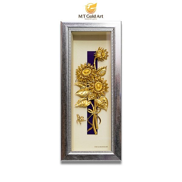 58.Khám phá ý nghĩa tuyệt diệu của tranh hoa hướng dương dát vàng.ảnh 1