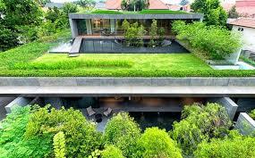 Thiết kế vườn trên mái xanh mát cho biệt thự 2 tầng đẹp.